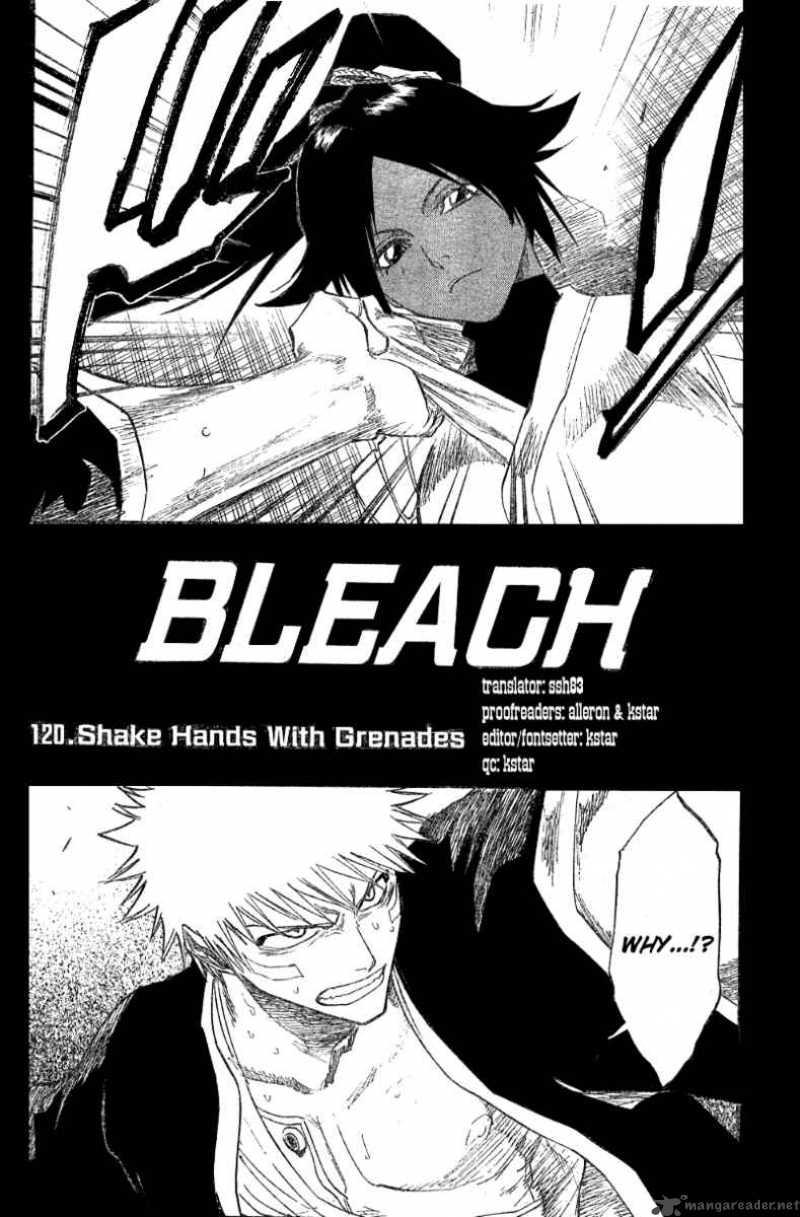 Bleach 120 Shake Hands with Grenades